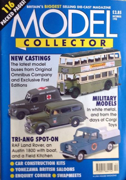 ORIGINAL MODEL COLLECTOR MAGAZINE December 1998